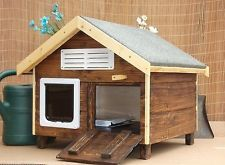 Laurieston Outdoor Cat House/Cat Kennel/Cat Shelter with Unique Training Door