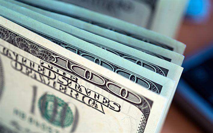 Dollars, bills, 100 dollars, American dollars, banknotes, finance