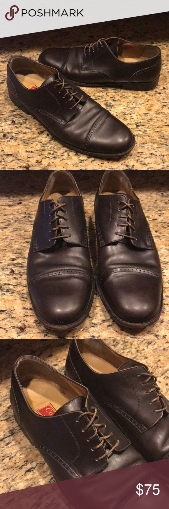 {Cole Haan} Brown Oxford Dress Shoes 👞 Pre-owned in great condition! Minor blemishes around the front (see pictures). Cole Haan Shoes Oxfords & Derbys