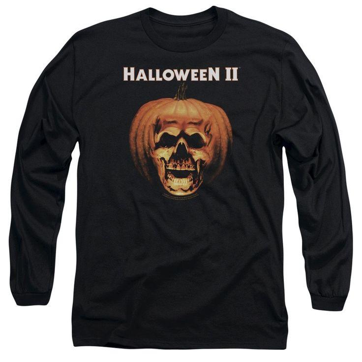 Halloween Ii - Pumpkin Shell Adult Long Sleeve T-Shirt