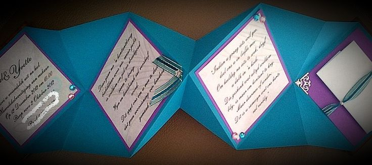 The inside of the wooden cover wedding invitation