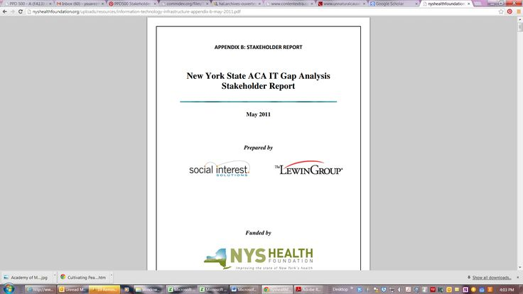 New York State Aca It Gap Analysis Stakeholder Report Http