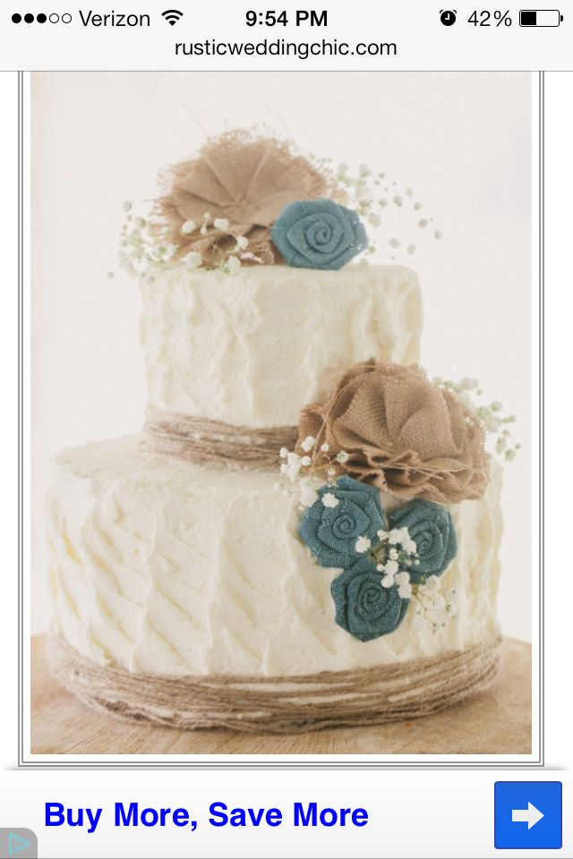 Cute Burlap Cake Idea Wedding Ideas Pinterest Burlap