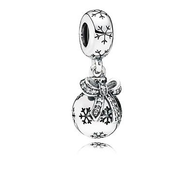 The new Christmas charms are here! Love this new ornament charm. PANDORA | Christmas ornament, clear cz