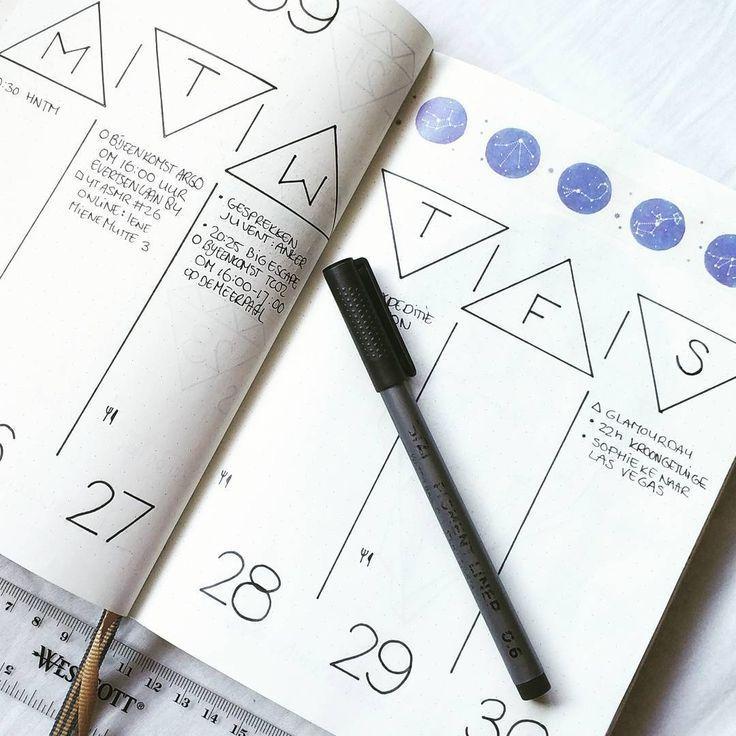 15 Ideen für das wöchentliche Bullet-Journal zu gut für die