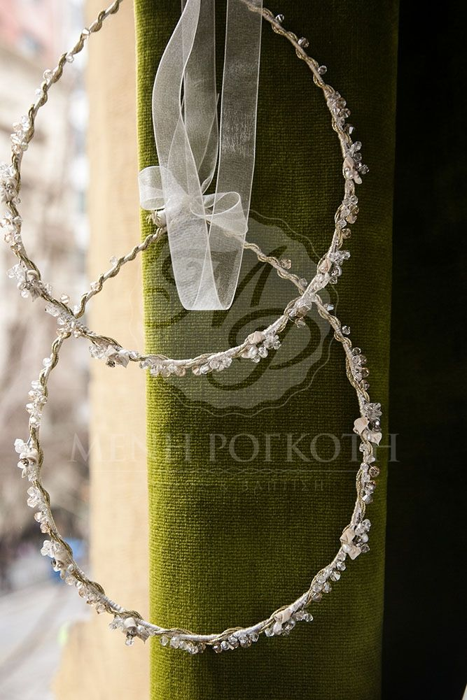 Porcelain flowers wedding crowns