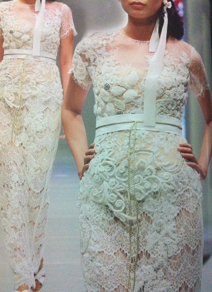 Play with lace #kebaya #combination by Elok Rege #brand Dola AP #indonesia