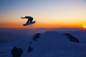 Snowboarding Sunrise