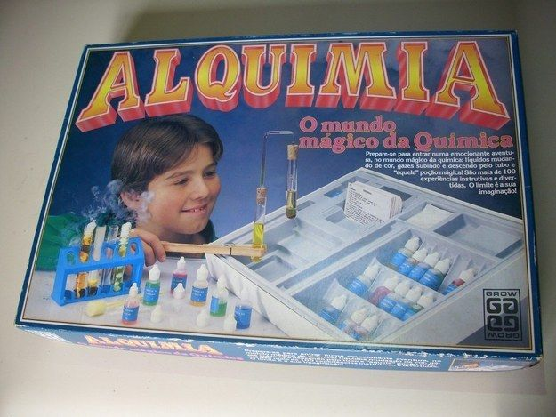 O Alquimia, que fazia a Química parecer uma coisa realmente divertida.   33 brinquedos que você tinha esquecido que fizeram parte da sua infância