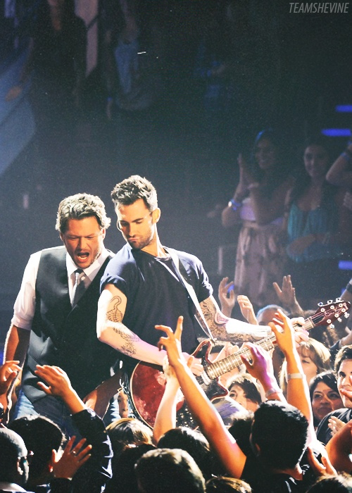 Adam Levine & Blake Shelton...... this is the best bromance! @James Dresen @Angela Miklasz