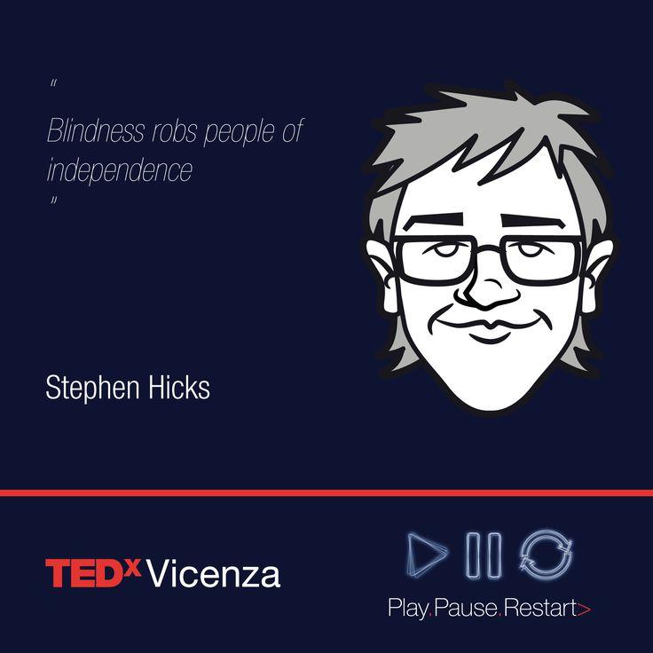 STEPHEN HICKS | Ricercatore presso l'Università di Oxford  Titolo del talk: Un nuovo modo di vedere  #TEDxVicenza PlayPauseRestart #TEDx #Vicenza