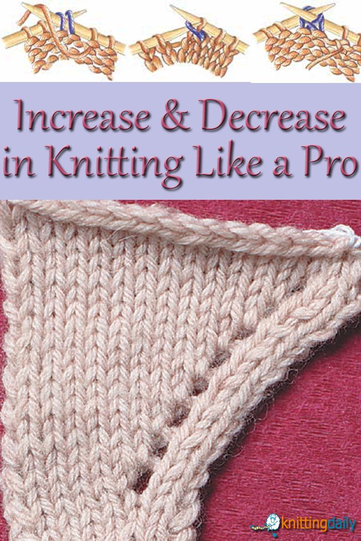 Increase Decrease Stitches Knitting : 260 best Knitting patterns/tips images on Pinterest Knitting stitches, Knit...