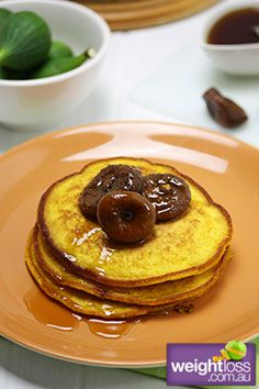 Pumpkin Pancakes with Figs. #HealthyRecipes #DietRecipes #WeightLossRecipes weightloss.com.au