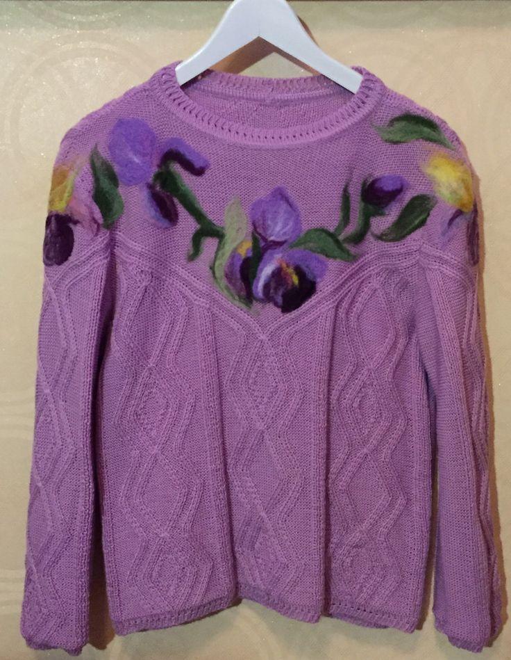 Вязанный свитер,джемпер. Больше фото Инстаграм filatova_tn