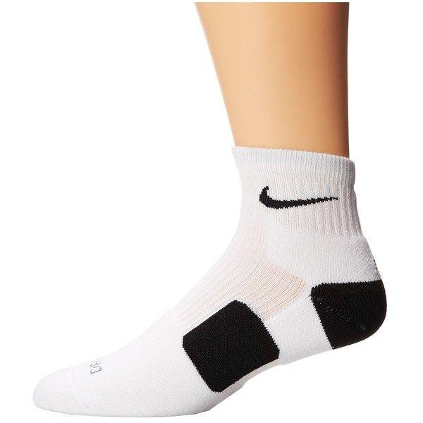 Nike Elite Basketball HQT Quarter Length Socks ($14) ❤ liked on Polyvore featuring intimates, hosiery, socks, nike socks, wicking socks, moisture wicking socks, low cut socks and logo socks