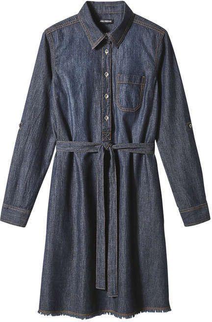 Joe Fresh Women's Denim Shirt Dress, Dark Wash (Size XS)