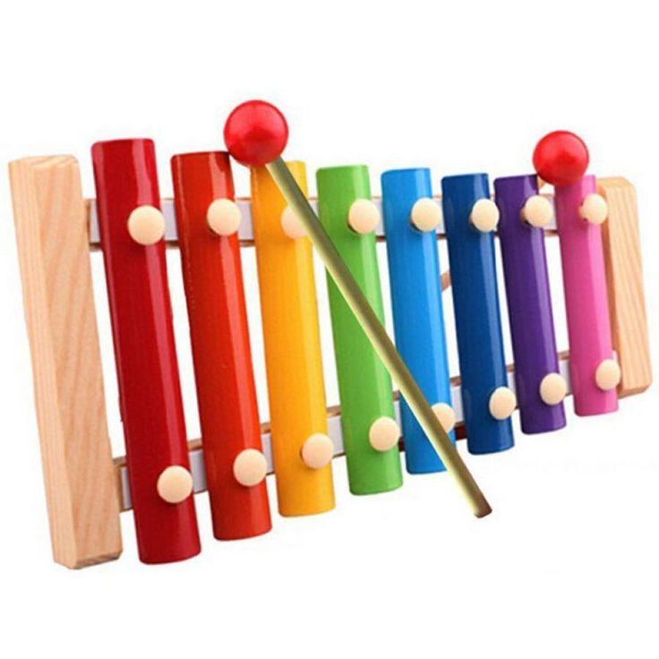 Holz Xylophon für Babys - spielend leicht musizieren lernen!!