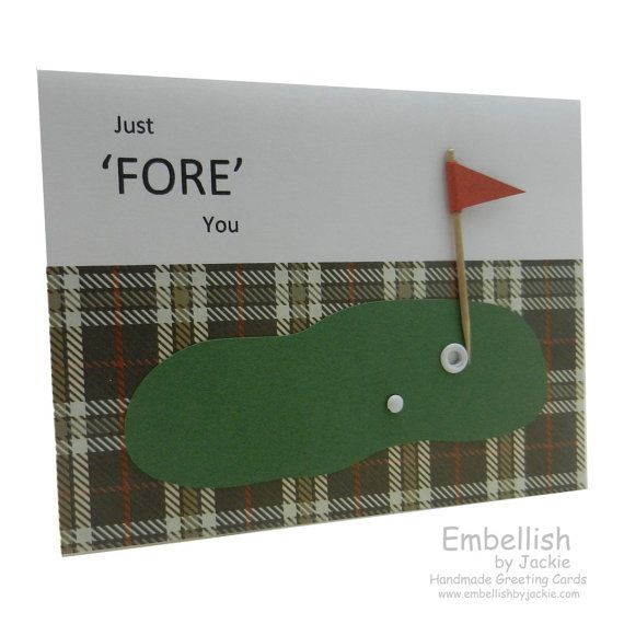 Golf Birthday Card  Handmade by EmbellishbyJackie on Etsy, $4.00