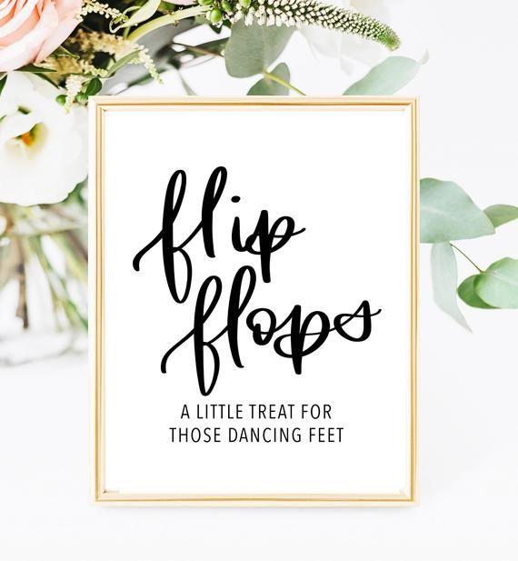 Wedding Flip Flops Sign Flip Flop Sign Printable Wedding Etsy Wedding Flip Flops Printable Wedding Sign Flip Flop Sign