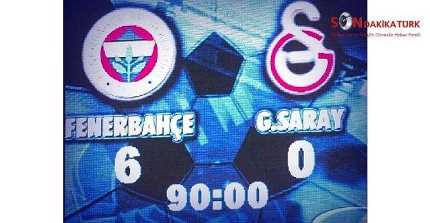 Bugün tarihi skorun yıl dönümü Fenerbahçe 6-0 Galatasaray