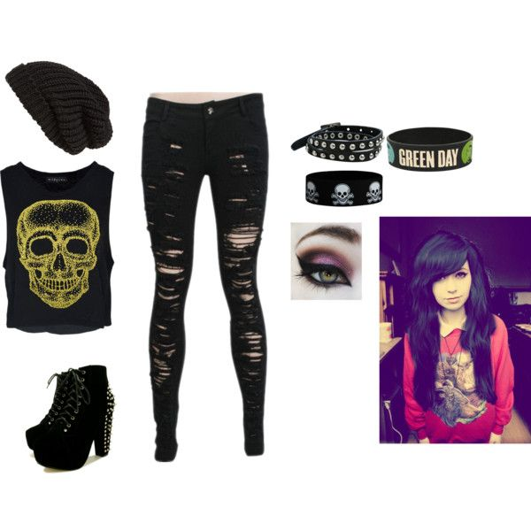 lovely punk rock outfits for girls