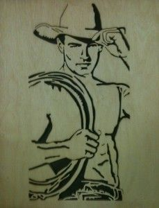 Cowboy-up (one for all the cowgirls out there) my dad made. My favorite! :)