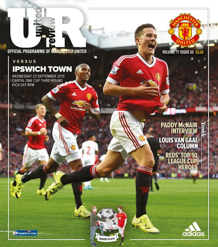United Review cover. @manutd v Ipswich Town, 23 September 2015.