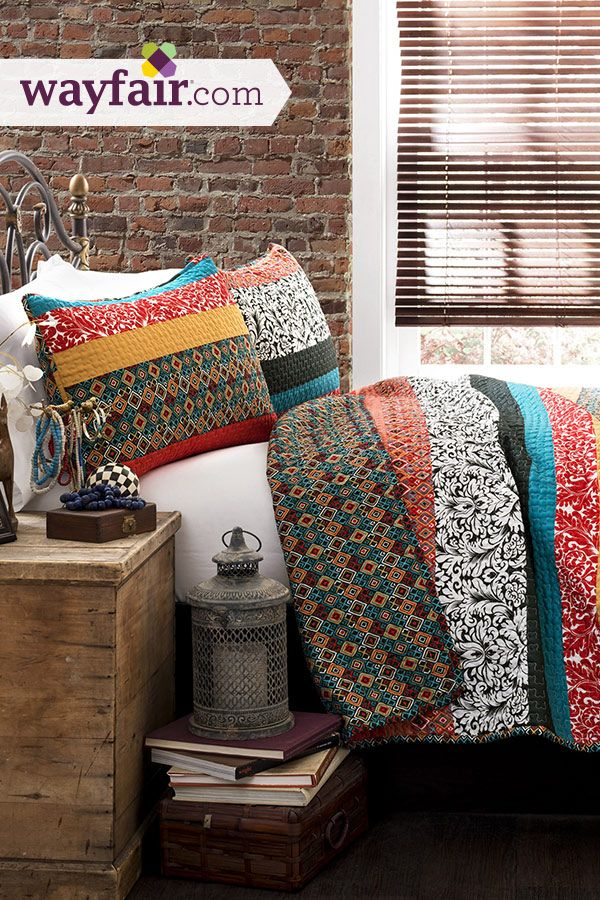 Free spirited, untamed, rustic and yet chic, this quilt set is a perfect piece of modern time creativity. Get up to 70% on Wayfair!