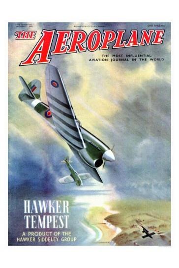Hawker Tempest Aeroplane Magazine Cover Print 1940s £7.99
