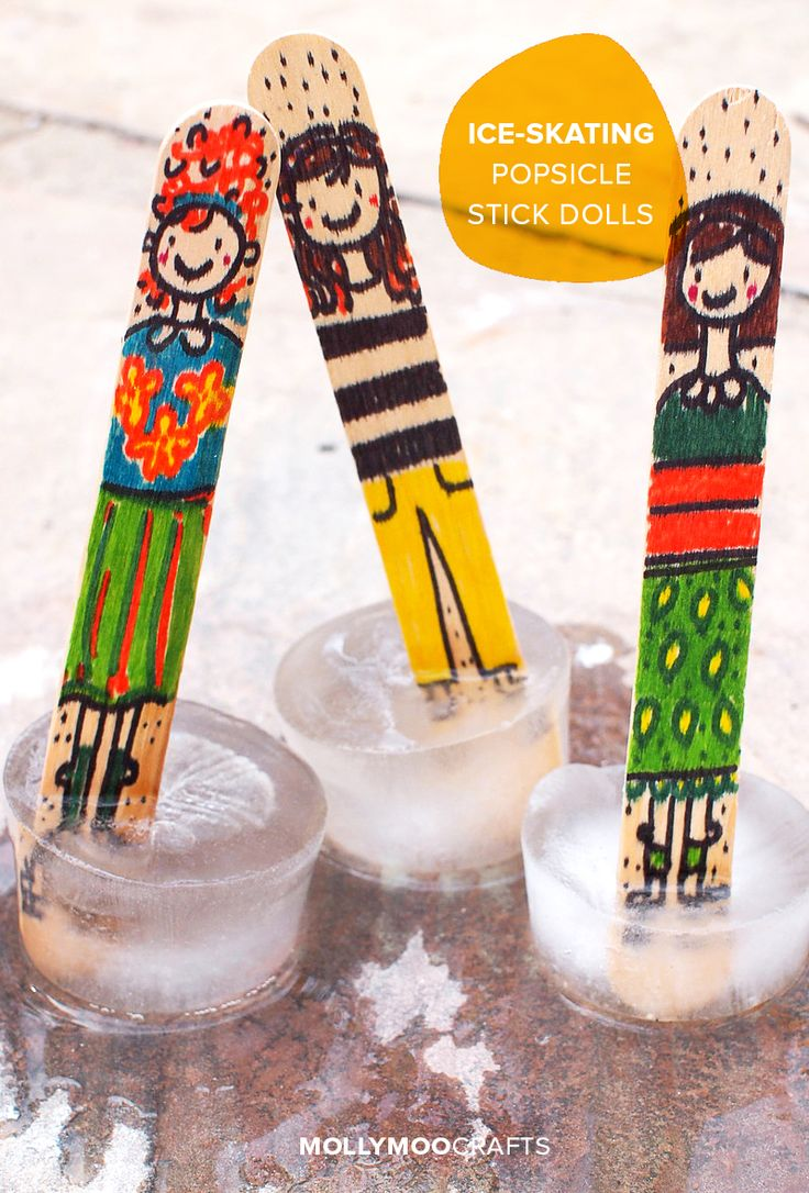 Popsicle Stick Dolls - that Ice-Skate! - A new and exciting twist on the classic craft stick dolls that your kids will have a blast making and playing with | MollyMooCrafts.com