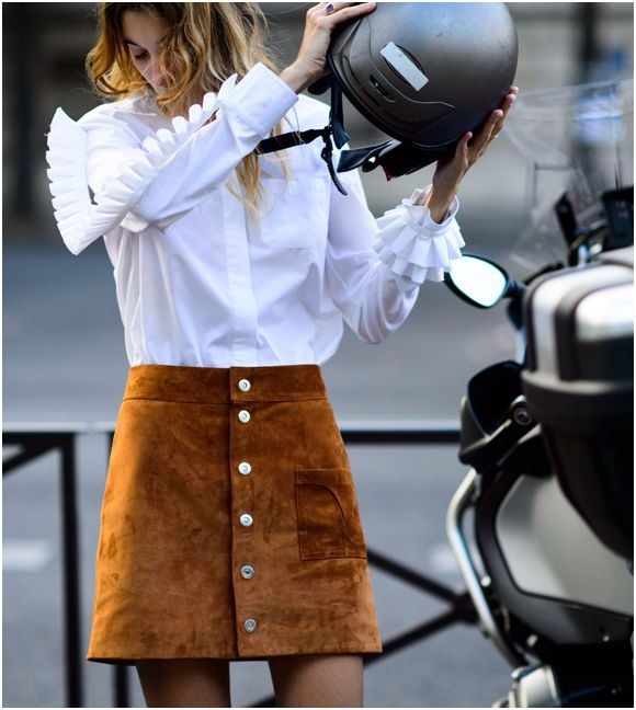 MANNERS | TheyAllHateUs / suede skirt / shirt / fashion / street style / outfit inspiration: