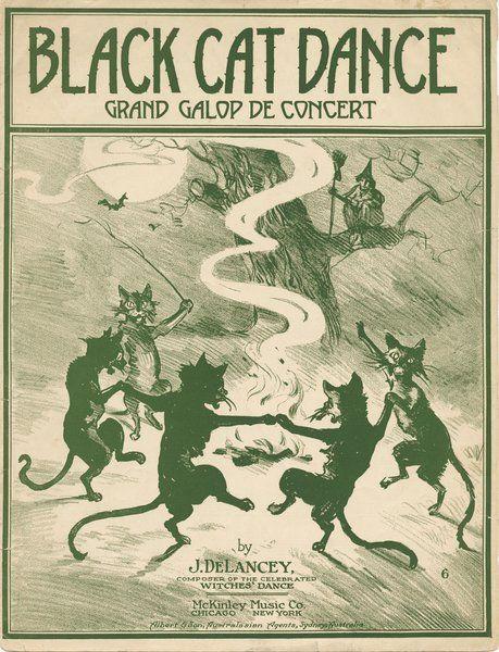 DeLancey, J. Black cat dance. New York: McKinley Music Co., 1916.: Page 1 of 4