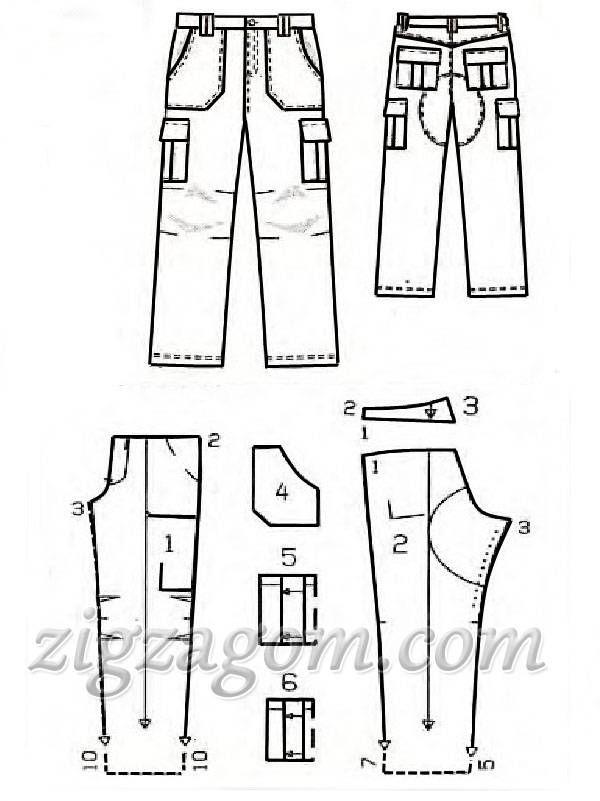схема выкройка брюк для верховой езды - Поиск в Google
