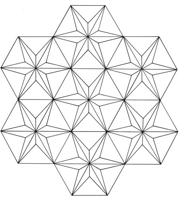 3D GEOMETRIC PATTERN COLORING PAGES Image Galleries