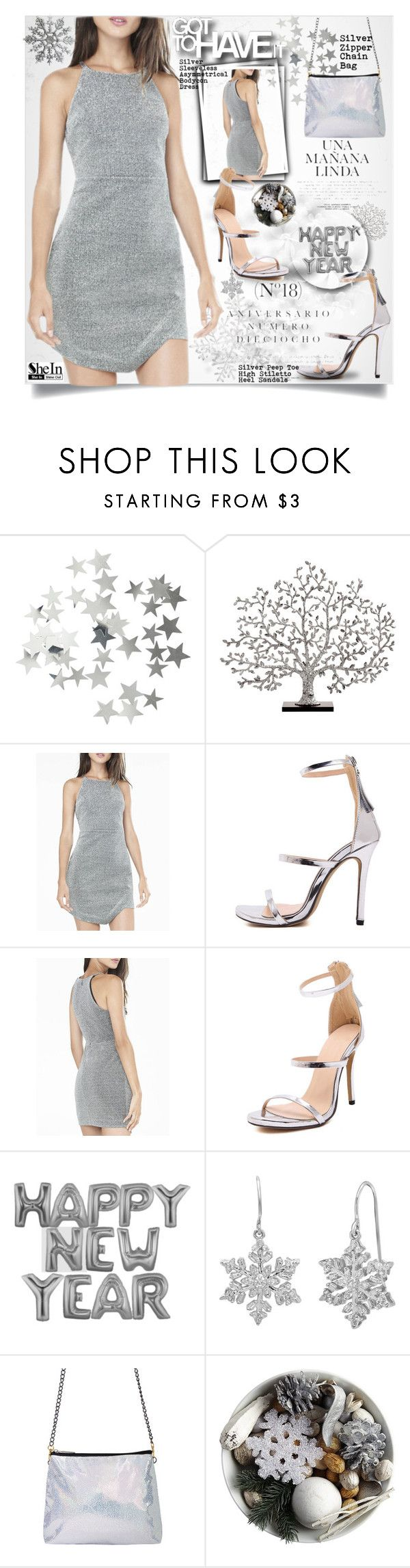 """""""SheIn Silver Outfit"""" by lillili25 ❤ liked on Polyvore featuring H&M, Michael Aram, Sinclair, Amanda Rose Collection, Sheinside, polyvoreeditorial and shein"""