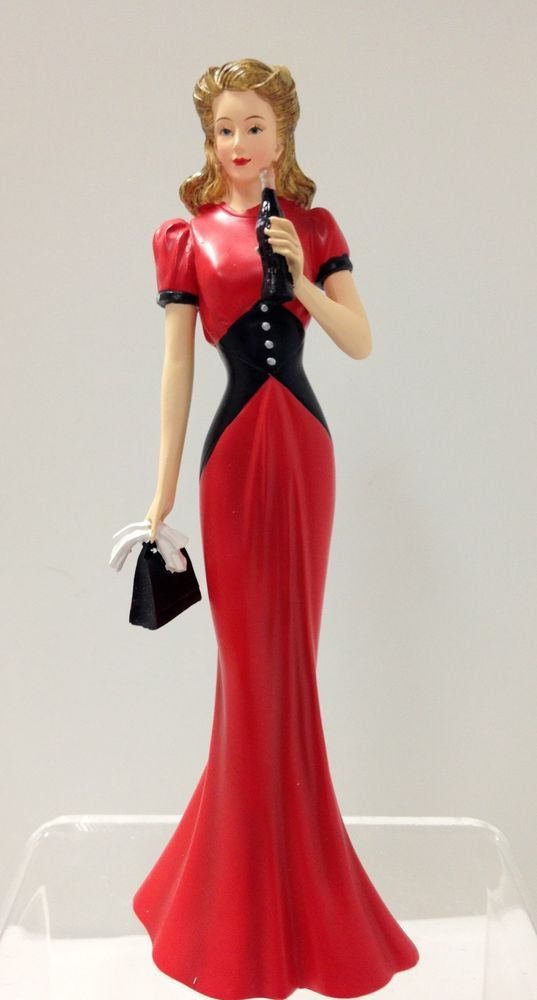 Fashion and Coca Cola Lady Figurine - Elegance Through Decades Coke Bradford