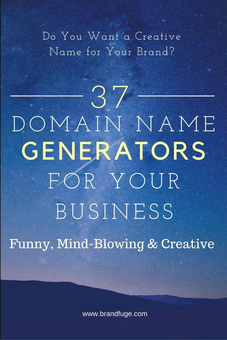 37 Free Domain Name Generators For Your Business Brand Business Name Generator Ideas Of Domain Name Generator Business Name Generator Free Name Generator