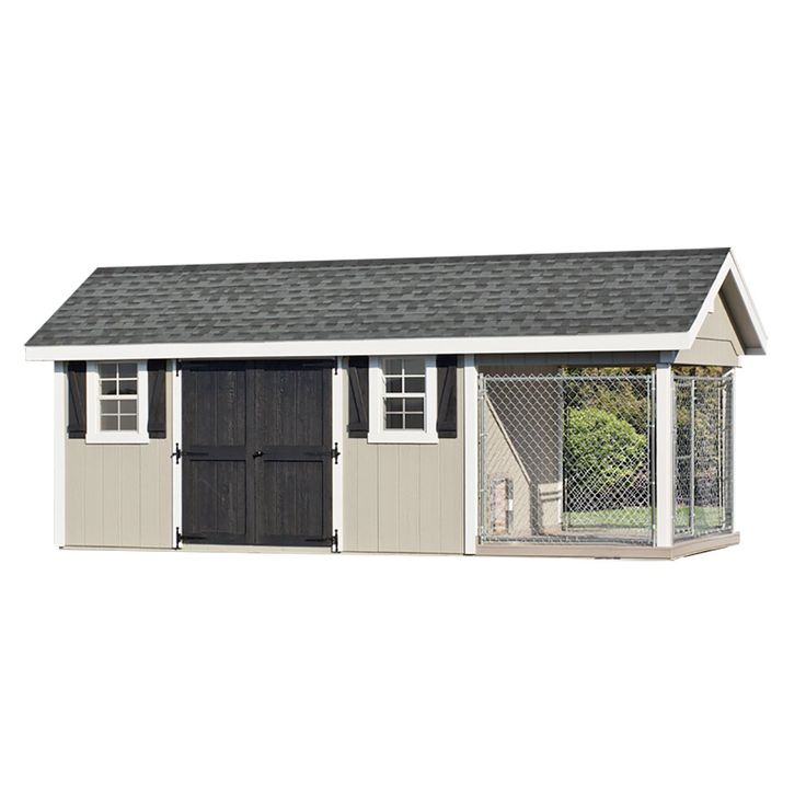 Dog kennel and shed 10 x 24 buckskin new house for Dog kennels los angeles
