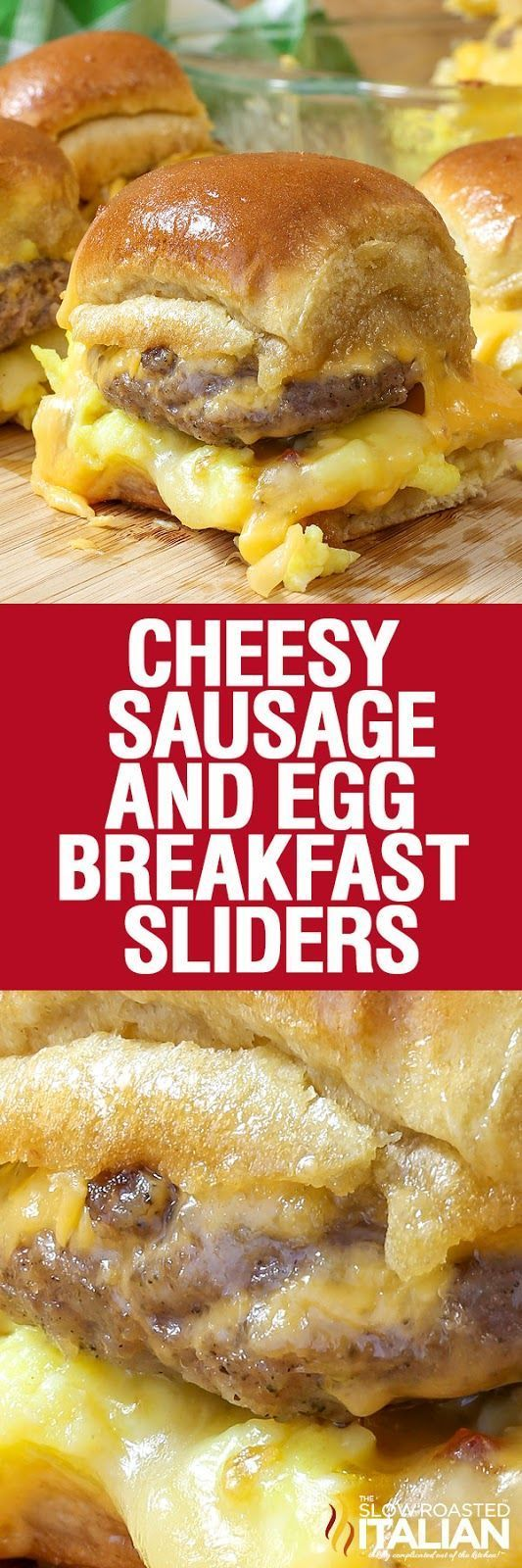Cheesy Sausage and Egg Breakfast Sliders Recipe - CUCINA DE YUNG
