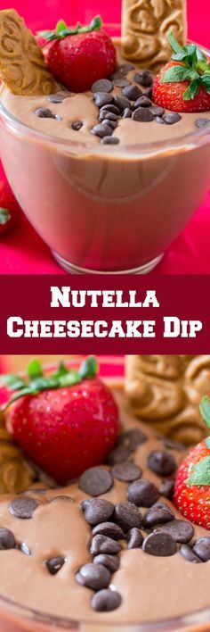 Five Minute Nutella Cheesecake Dip is the perfect quick and delicious dessert dip!