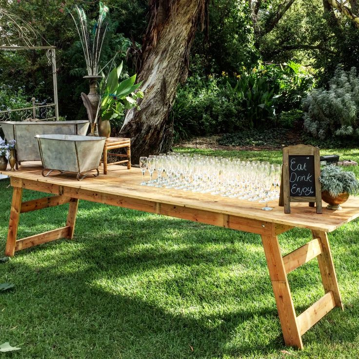 Timeless trestles...drinks stations, grazing tables, dining tables.
