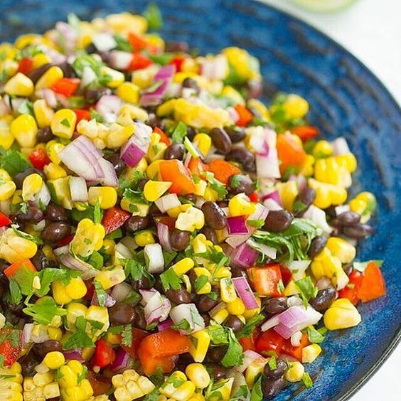 This Mexican corn and bean salad is just one of a diverse range you can enjoy with the help of Rumbles' healthy cooking school!