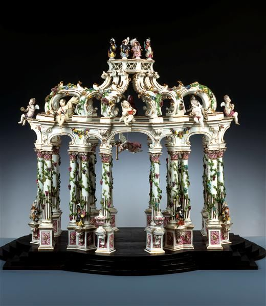 A porcelain table sculpture, Germany, ca. 1750