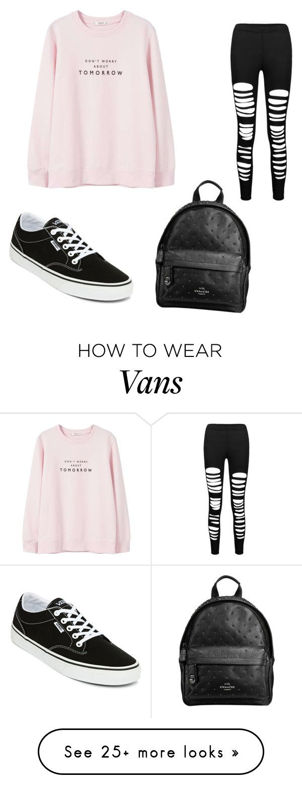 """touch of pink"" by soundlessfob on Polyvore featuring Vans, Marni and MANGO"