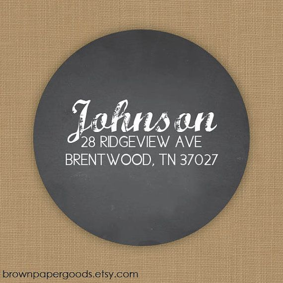 self adhesive return address labels