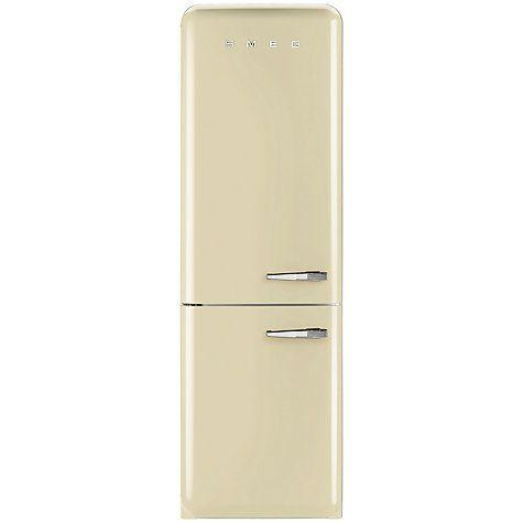 Buy Smeg FAB32LNC Fridge Freezer, A++ Energy Rating, Left-Hand Hinge, 60cm Wide, Cream Online at johnlewis.com