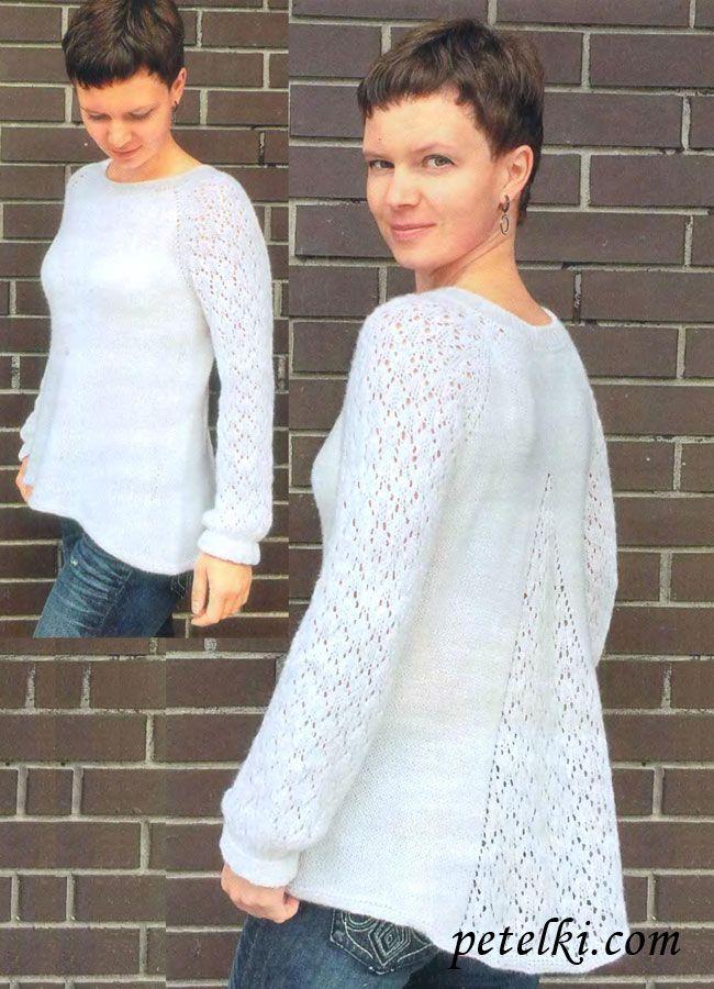 Цельновязаный пуловер реглан
