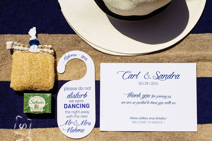 Welcome tags for the guests!