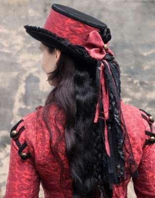 Zylinder Victoria rot-schwarz