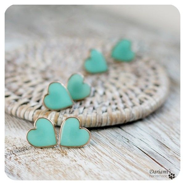 tiffany blue heart earrings -so adorable!